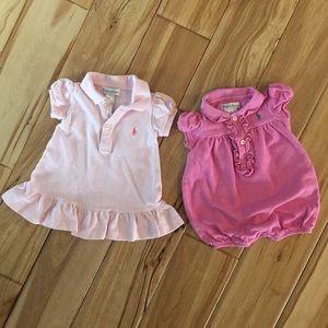 Ralph Lauren Baby Dress and Romper Set - 3 Months